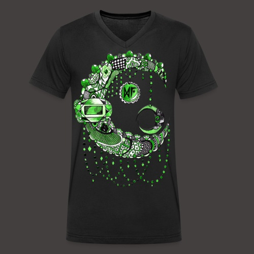 Lune dentelle Verte - T-shirt bio col V Stanley & Stella Homme