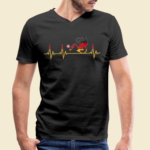 Radball | Cycleball Heart Monitor Germany - Männer Bio-T-Shirt mit V-Ausschnitt von Stanley & Stella