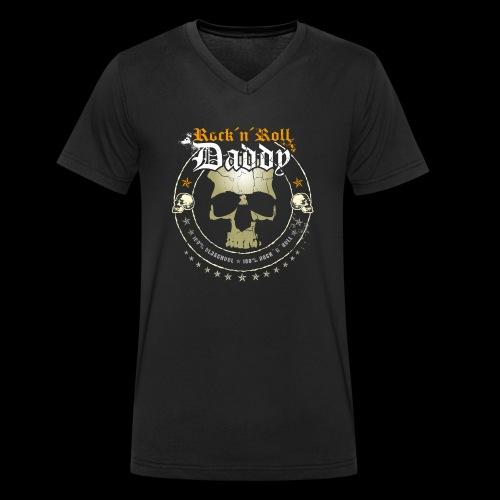 Rock ´n´ Roll Daddy - Männer Bio-T-Shirt mit V-Ausschnitt von Stanley & Stella
