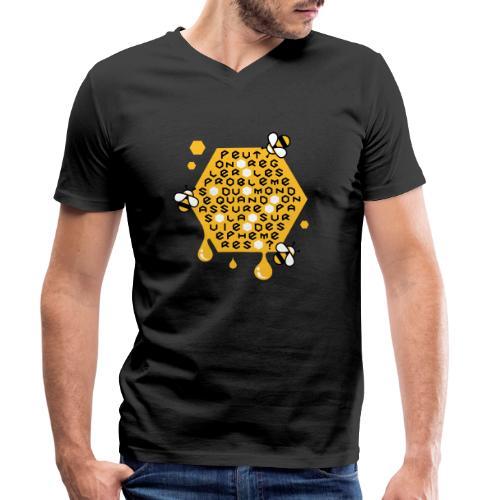 Sauver les abeilles - T-shirt bio col V Stanley & Stella Homme