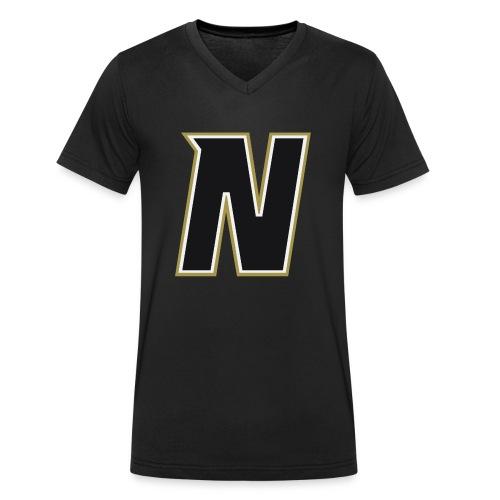 Nordic Steel Black N - Men's Organic V-Neck T-Shirt by Stanley & Stella