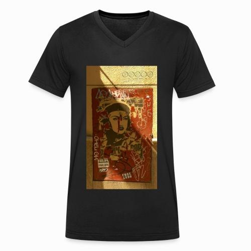 pasionaria madrid - Men's Organic V-Neck T-Shirt by Stanley & Stella