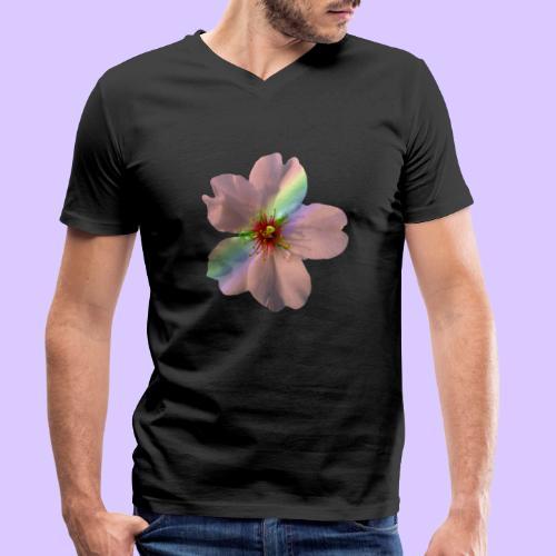 zauberhafte Blüte in coral, Regenbogen - Männer Bio-T-Shirt mit V-Ausschnitt von Stanley & Stella