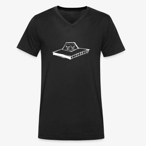 AREA21 Spaceship - Camiseta ecológica hombre con cuello de pico de Stanley & Stella