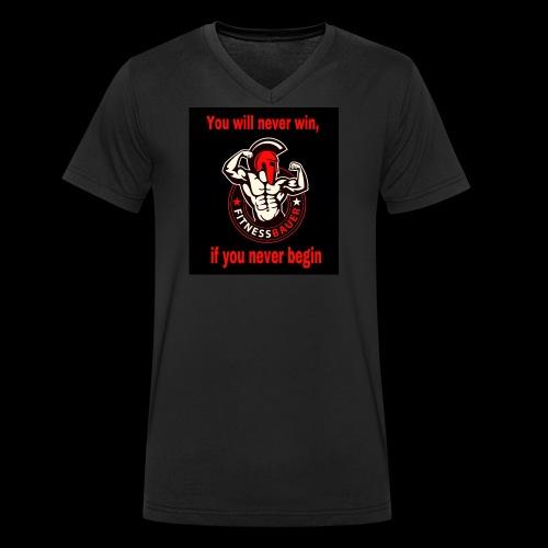 You will never win - Männer Bio-T-Shirt mit V-Ausschnitt von Stanley & Stella