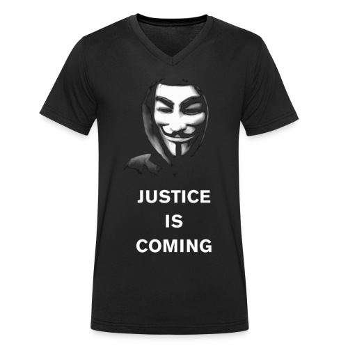 justice is coming - Stanley & Stellan miesten luomupikeepaita