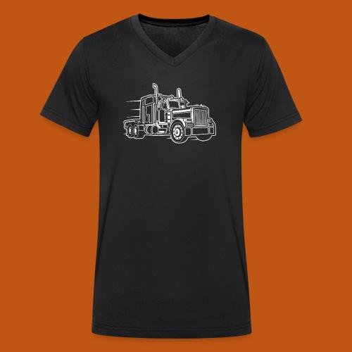 Truck / Lkw 03_weiß - Männer Bio-T-Shirt mit V-Ausschnitt von Stanley & Stella