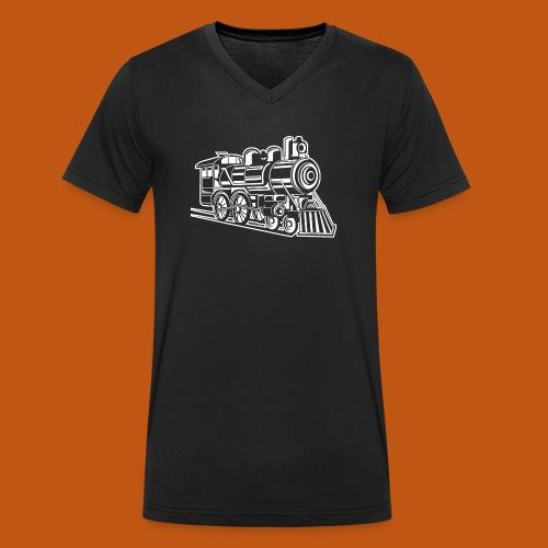 Lokomotive / Locomotive 01_weiß - Männer Bio-T-Shirt mit V-Ausschnitt von Stanley & Stella