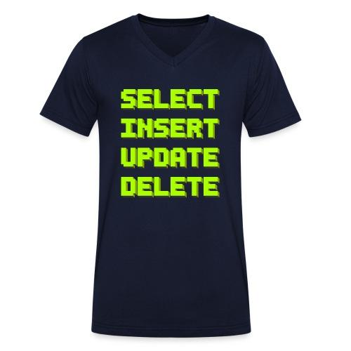 SQL pixelart black - Männer Bio-T-Shirt mit V-Ausschnitt von Stanley & Stella