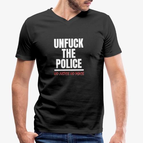 Unfuck the police no justice no peace - Männer Bio-T-Shirt mit V-Ausschnitt von Stanley & Stella