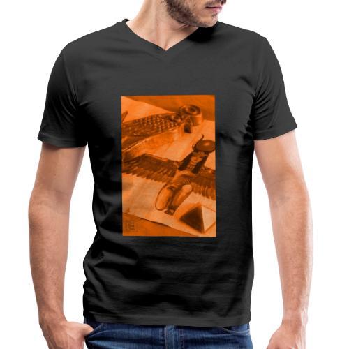 Iside e Horus - T-shirt ecologica da uomo con scollo a V di Stanley & Stella