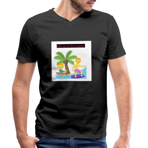 beach - Ekologisk T-shirt med V-ringning herr från Stanley & Stella