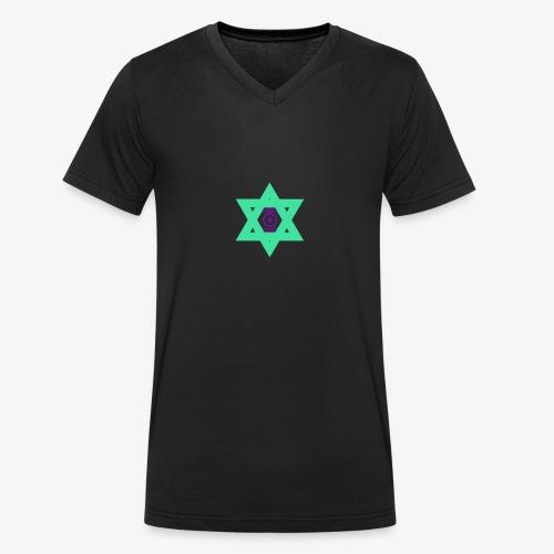 Star eye - Men's Organic V-Neck T-Shirt by Stanley & Stella