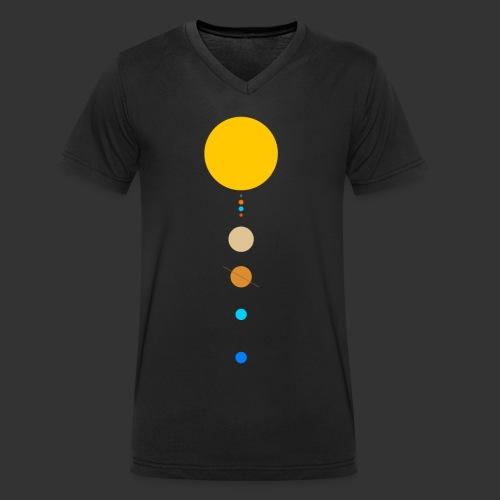 Solar System - Men's Organic V-Neck T-Shirt by Stanley & Stella