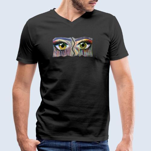 Open Eyes Berlin PopArt ickeshop BachBilder - Männer Bio-T-Shirt mit V-Ausschnitt von Stanley & Stella