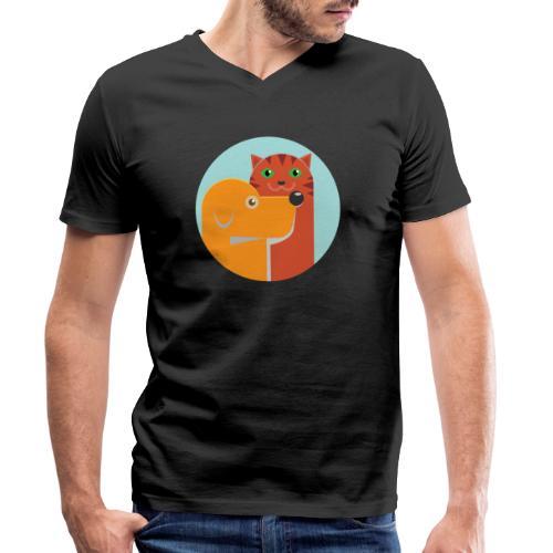Tierfreund - Männer Bio-T-Shirt mit V-Ausschnitt von Stanley & Stella