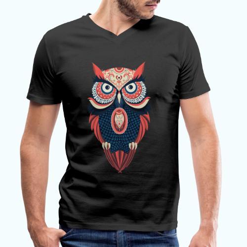 Hippie owl - Men's Organic V-Neck T-Shirt by Stanley & Stella