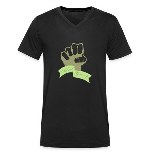 nevergiveup - T-shirt bio col V Stanley & Stella Homme