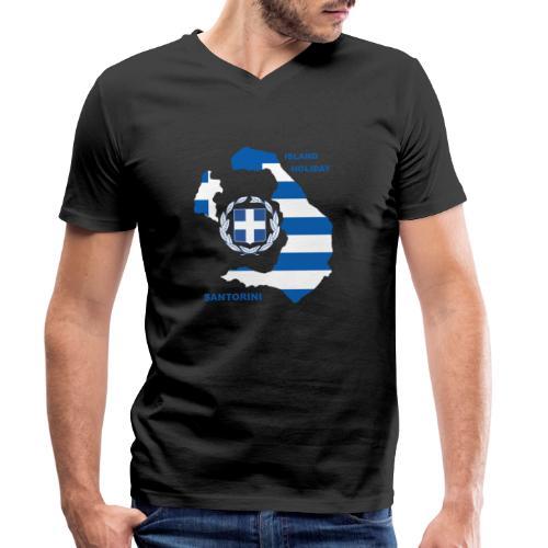 Santorini Island Holiday - Männer Bio-T-Shirt mit V-Ausschnitt von Stanley & Stella