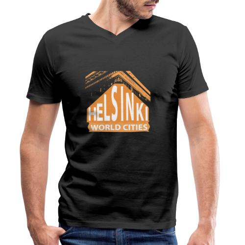 Helsinki2 orange - Men's Organic V-Neck T-Shirt by Stanley & Stella