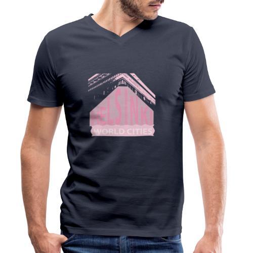 Helsinki light pink - Men's Organic V-Neck T-Shirt by Stanley & Stella
