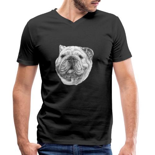 EngelskBulldog M - Økologisk Stanley & Stella T-shirt med V-udskæring til herrer