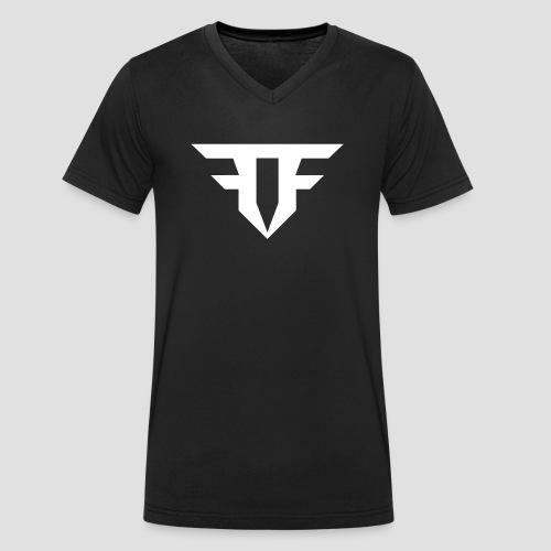 Fripfi Logo Weiß - Männer Bio-T-Shirt mit V-Ausschnitt von Stanley & Stella