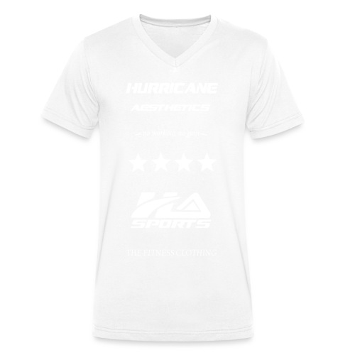 design no workout no gain white - T-shirt bio col V Stanley & Stella Homme