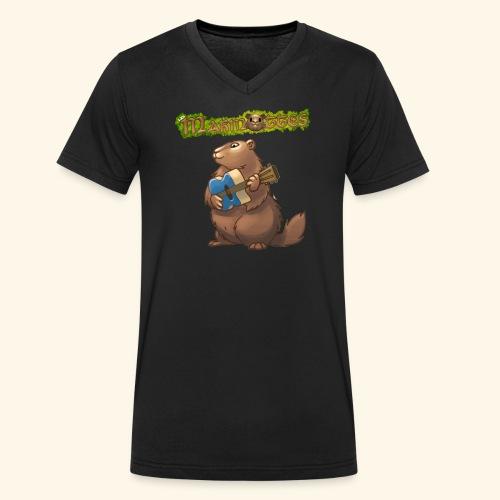 Tshirt Guitare - T-shirt bio col V Stanley & Stella Homme