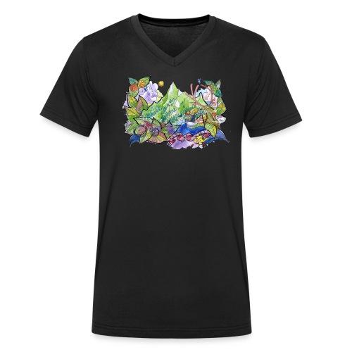 vivelavie Montagne et vue - T-shirt bio col V Stanley & Stella Homme