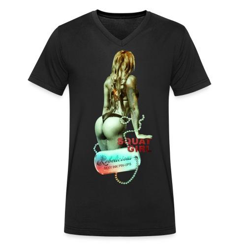 Squats gif - Mannen bio T-shirt met V-hals van Stanley & Stella