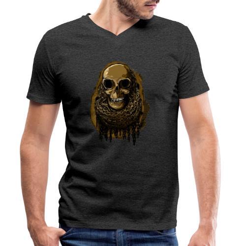 Skull in Chains YeOllo - Men's Organic V-Neck T-Shirt by Stanley & Stella