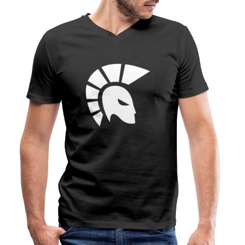 centurion racing icon White - Men's Organic V-Neck T-Shirt by Stanley & Stella