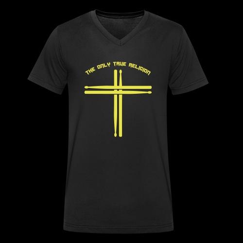 True Religion - Männer Bio-T-Shirt mit V-Ausschnitt von Stanley & Stella