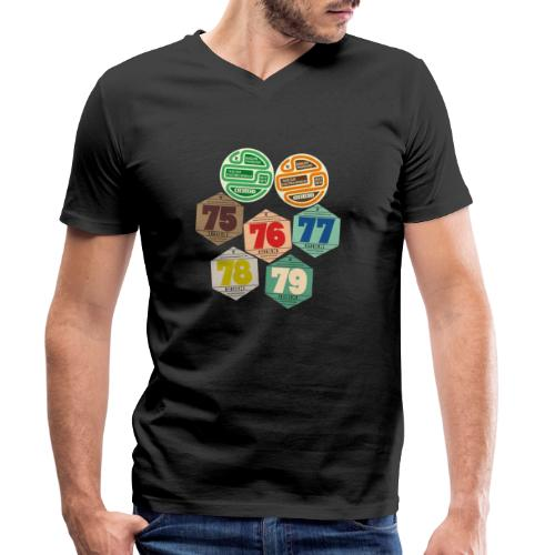 Vignettes automobiles années 70 - T-shirt bio col V Stanley & Stella Homme