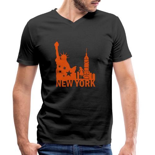 New York City Deluxe - Männer Bio-T-Shirt mit V-Ausschnitt von Stanley & Stella