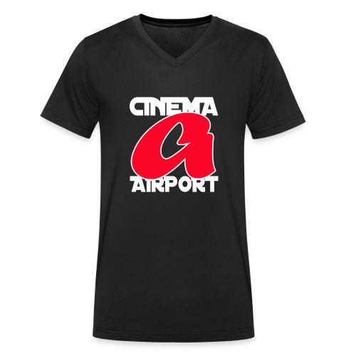 CINEMA AIRPORT finale a - Mannen bio T-shirt met V-hals van Stanley & Stella