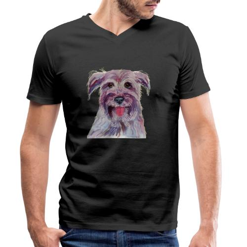 pyrenean shepherd - Økologisk Stanley & Stella T-shirt med V-udskæring til herrer