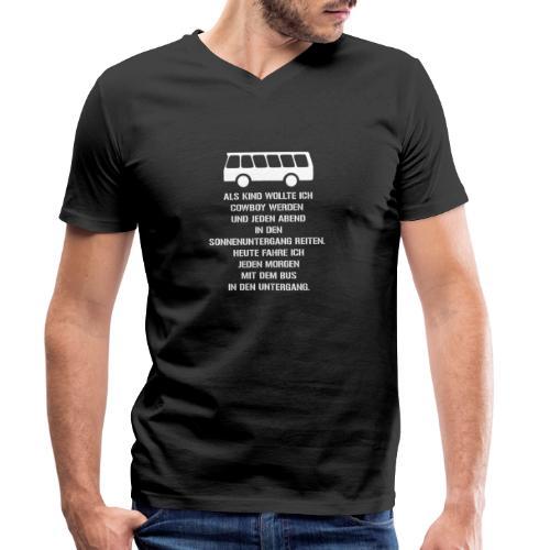 Busfahrer geworden - Männer Bio-T-Shirt mit V-Ausschnitt von Stanley & Stella