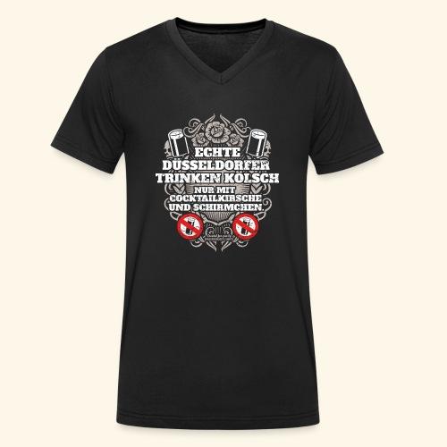 Düsseldorf T Shirt Spruch Echte Düsseldorfer - Männer Bio-T-Shirt mit V-Ausschnitt von Stanley & Stella