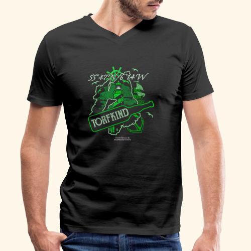 Whisky T Shirt Design Islay Single Malt Peat Torf - Männer Bio-T-Shirt mit V-Ausschnitt von Stanley & Stella