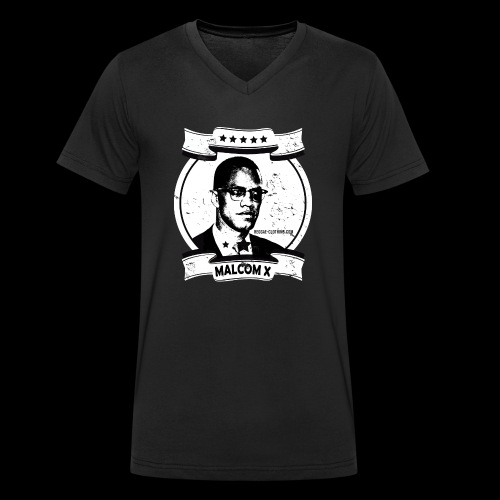 Malcom X Classic - Männer Bio-T-Shirt mit V-Ausschnitt von Stanley & Stella