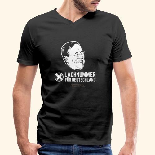 Lachnummer für Deutschland - Männer Bio-T-Shirt mit V-Ausschnitt von Stanley & Stella