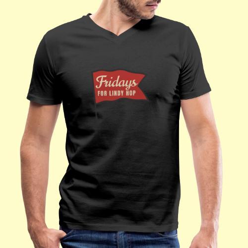 Lindy Hop Swing Tanz Geschenk T-Shirt - Männer Bio-T-Shirt mit V-Ausschnitt von Stanley & Stella