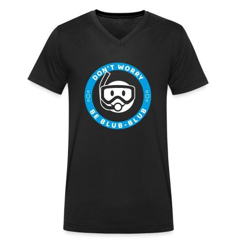 Happy Diver (Text) - Männer Bio-T-Shirt mit V-Ausschnitt von Stanley & Stella
