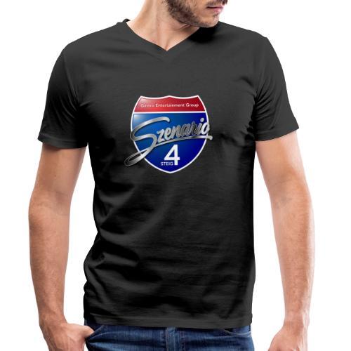 Steig4 - Szenario - Logo - Männer Bio-T-Shirt mit V-Ausschnitt von Stanley & Stella