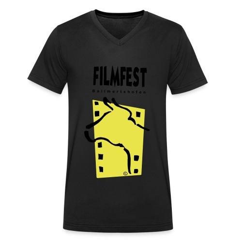 Filmfest Logo - Männer Bio-T-Shirt mit V-Ausschnitt von Stanley & Stella