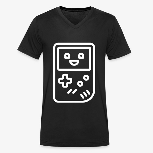 Smiling game console (white) - Men's Organic V-Neck T-Shirt by Stanley & Stella