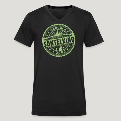 SÜNTELKIND 2002 - Das Süntel Shirt mit Süntelturm - Männer Bio-T-Shirt mit V-Ausschnitt von Stanley & Stella