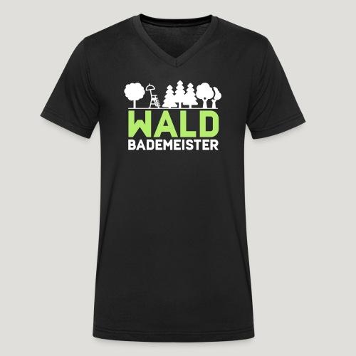 Waldbademeister für das Waldbaden im Waldbad - Männer Bio-T-Shirt mit V-Ausschnitt von Stanley & Stella